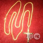 Pure ITALY 750 Tested 18krt Gold Frnco Wit Crucifix Pendant | Jewelry for sale in Lagos State, Lagos Island