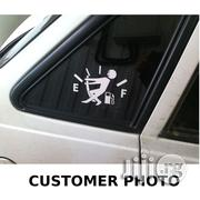 Fuel Gage Empty Car Stickers Funny White (Reference: CR11-W) | Vehicle Parts & Accessories for sale in Lagos State