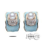 Blue Pearl Stud Earring | Jewelry for sale in Abuja (FCT) State, Asokoro