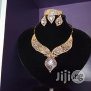 Exotic Sparkling Rhinestone Ladies Gold Set of Jewelry in a Box | Jewelry for sale in Lagos State