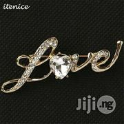 Itenice Word of Love Crystal Lovers Brand Classic Letter Brooch Pin | Jewelry for sale in Lagos State, Surulere