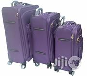 3 Set High Quality 4 Wheel Luggage Purple | Bags for sale in Lagos State, Ikeja
