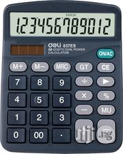 Deli Digital 12 Digits Electronic Calculator For Sale | Stationery for sale in Rivers State, Port-Harcourt