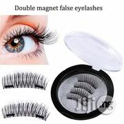 Double 3D Magnetic Eyelashes Reusable Strong Black Full Size Eyelashes | Makeup for sale in Lagos State