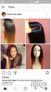 Two Toned Ombre Wig With Closure   Hair Beauty for sale in Lagos State, Ikeja