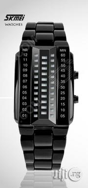 Skmei 1035 Men's Waterproof 3D Glass Dial Electronic Digital Watch.   Watches for sale in Lagos State, Ikeja