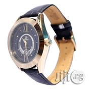 Promado B3750GDL 18K GOLD Leather Black Face Watch | Watches for sale in Lagos State, Surulere