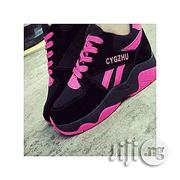 CYGZHU Fashion Ladies'sneakers- Black&Pink | Shoes for sale in Lagos State, Agege