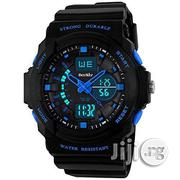 Skmei Waterproof Dual Time Zone Multifunction Wrist Watch Black   Watches for sale in Lagos State, Agege