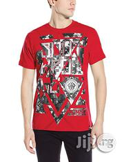 Southpole Men's Round Neck High Definition Foil Print T-Shirt- Red   Clothing for sale in Lagos State