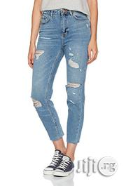 Newlook Women's Ripped Fray Hem Highwaisted Skinny Jeans- Blue | Clothing for sale in Lagos State