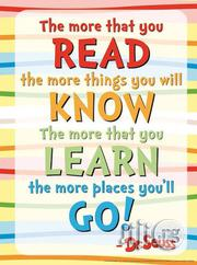 "Dr. Seuss "" The More You Read"" Poster 