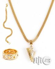 Gold Plated Chain With Cross Pendant | Jewelry for sale in Lagos State, Surulere