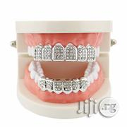 Hip-Hop Rhinestone Plated Teeth Grills -Silver | Jewelry for sale in Lagos State, Alimosho