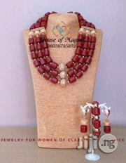 Brazillian Coral Bead With Gold Findings | Jewelry for sale in Abuja (FCT) State, Gudu
