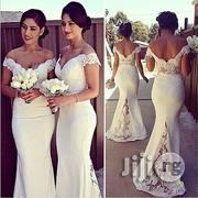 Women's Dress Long Bridesmaid Lace Stitching Trailing Evening Dress | Wedding Wear for sale in Lagos State, Ikeja