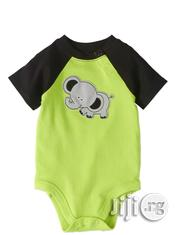 Baby Boy Graphic Bodysuit Colorblock Raglan Sleeves.   Children's Clothing for sale in Lagos State, Surulere