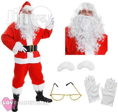 DELUXE 10 PIECE Santa Claus Suit With Bag
