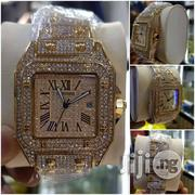 Cartier Ice Stones Gold Wristwatch   Watches for sale in Lagos State, Surulere