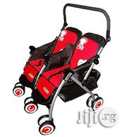 Generic Two In One Double Stroller- Red And Black | Prams & Strollers for sale in Abuja (FCT) State, Central Business Dis