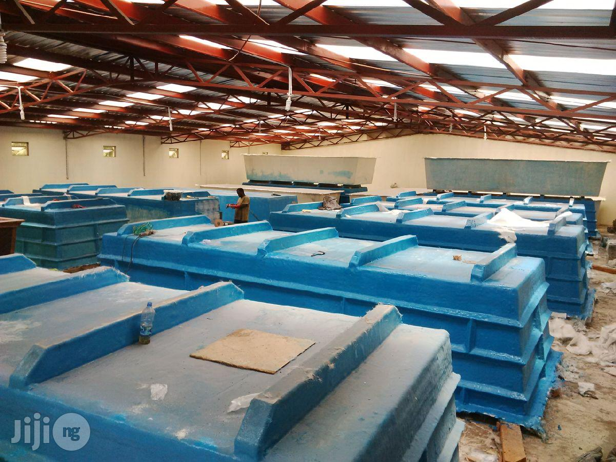 Fibreglass Reinforced Plastics Tanks (Fish, Chemicals And Water Tanks)   Other Repair & Constraction Items for sale in Garki 1, Abuja (FCT) State, Nigeria