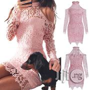 United States Strapless Skirt Lace Stitching Hollow Dress | Clothing for sale in Lagos State, Ikeja