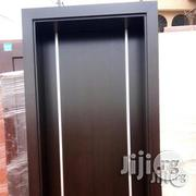 A Solid Hdf Door With Frame N Allumilum Crome | Doors for sale in Lagos State, Mushin