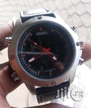 Fossil Leather Strap Digital and Analogue Wrist Watch | Watches for sale in Lagos State, Lagos Island