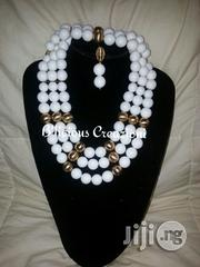 White Coral Bead With Gold Balls | Jewelry for sale in Lagos State, Apapa