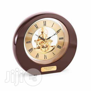 Round Rosewood Desk Clock | Home Accessories for sale in Lekki Phase 2, Lagos State, Nigeria