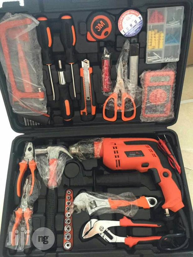 Portable Tools Box With Drill Machine