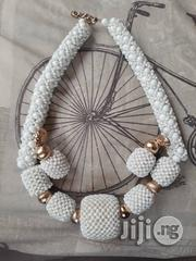 White and Gold Beaded Necklace | Jewelry for sale in Rivers State, Port-Harcourt