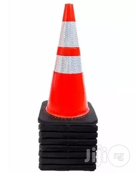 "28"" Safety Traffic Pvc Cones With Two Reflective Collars - Set Of 5"
