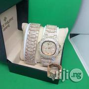 Patek Philippe Iced Out Chain Wrist Watch, Bracelet Ring - Rose Gold | Jewelry for sale in Lagos State, Ojodu