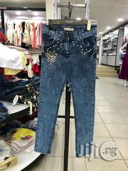 Quality Blue Denim Jeans for Girls | Children's Clothing for sale in Lagos State