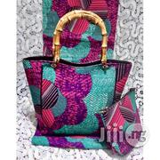 High Fabric 6yards Wax and Ankara Bag With Purse Imported Ix   Bags for sale in Imo State, Oguta