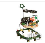 Happy Family Baby Walker With Canopy And Pusher - Army Green Color | Children's Gear & Safety for sale in Lagos State, Ajah