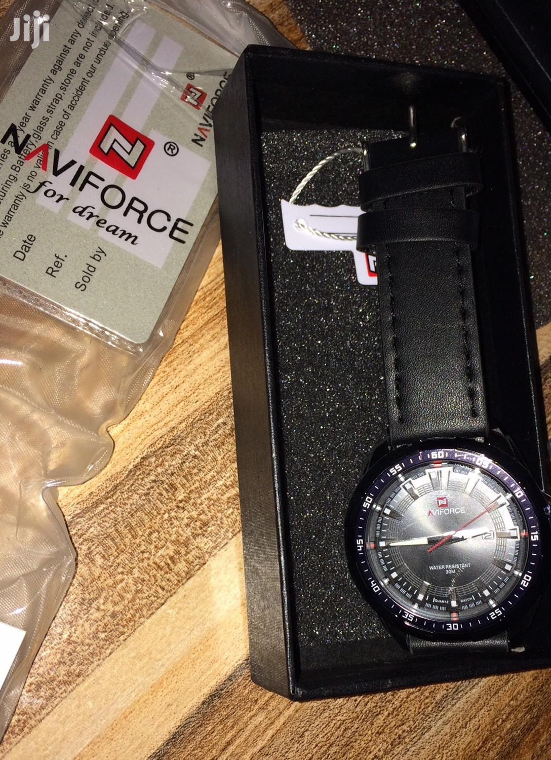 Naviforce Leather Watch | Watches for sale in Gbagada, Lagos State, Nigeria