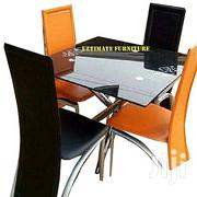 Ultimate Awesome Glass Square Dinning With 4 Chairs | Furniture for sale in Cross River State, Calabar