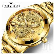 FNGEEN Men's Watches Golden Dragon Quartz Watch | Watches for sale in Lagos State, Maryland
