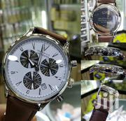 Chronograph Movado Wristwatch With Genuine Leather   Watches for sale in Lagos State, Lagos Island