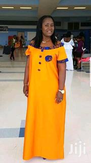 Long A-Line Gown With Ankara Patches | Clothing for sale in Lagos State, Gbagada