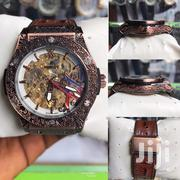 Carraebean Hublot Wristwatch With Rubber Leather Strap | Watches for sale in Lagos State, Lagos Island