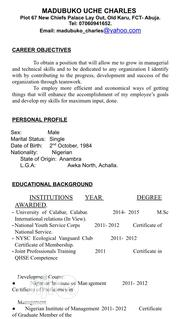 Management CV | Management CVs for sale in Cross River State, Calabar