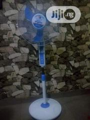 Rechargeable Solar Energy Standing Fan With Its Panel. | Solar Energy for sale in Enugu State, Enugu
