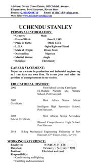Cana Job In August | Engineering & Architecture CVs for sale in Rivers State, Port-Harcourt