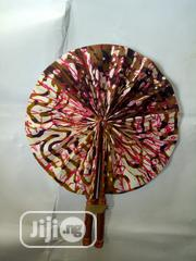 Ankara/Leather Handfan | Clothing Accessories for sale in Lagos State, Victoria Island