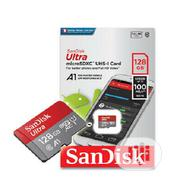 Sandisk Ultra Microsdhc UHS-I Flash Memory Card - 128GB | Accessories for Mobile Phones & Tablets for sale in Lagos State, Ikeja