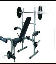 Quality Weight Bench With 30kg Dumbbell and Barbell | Sports Equipment for sale in Kaduna State, Makarfi