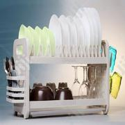 Rustless 2 Tier Plastic Dish Drainer And Plate Rack | Kitchen & Dining for sale in Lagos State, Ikeja